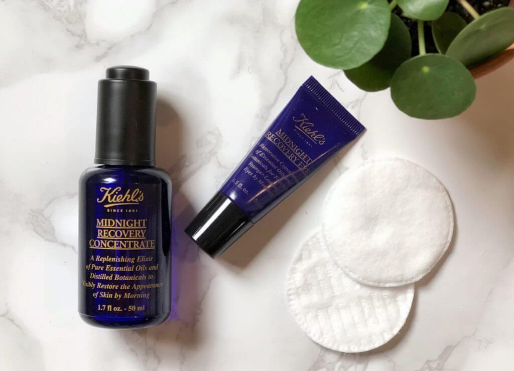 in 4 eenvoudige stappen van een droge huid naar een stralende huid Kiehl's midnight recovery