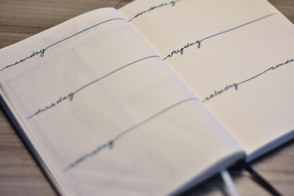 Mijn bullet journal in januari weekplanning