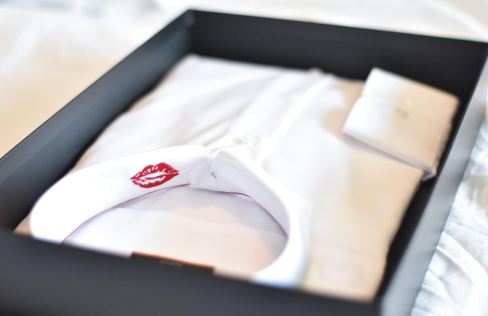 Valentijnsoverhemd grappig detail