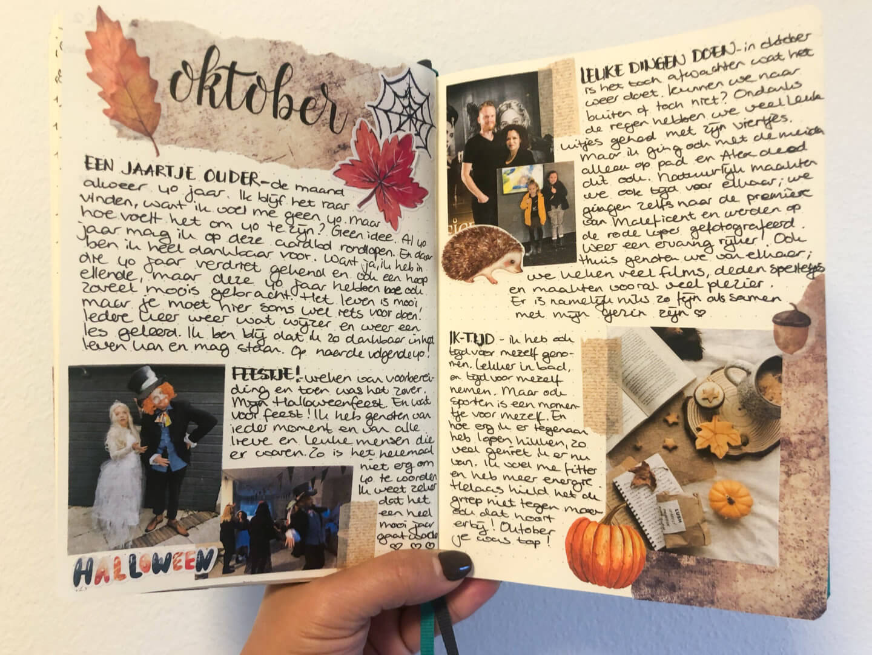 bullet journal in november terugblik oktober
