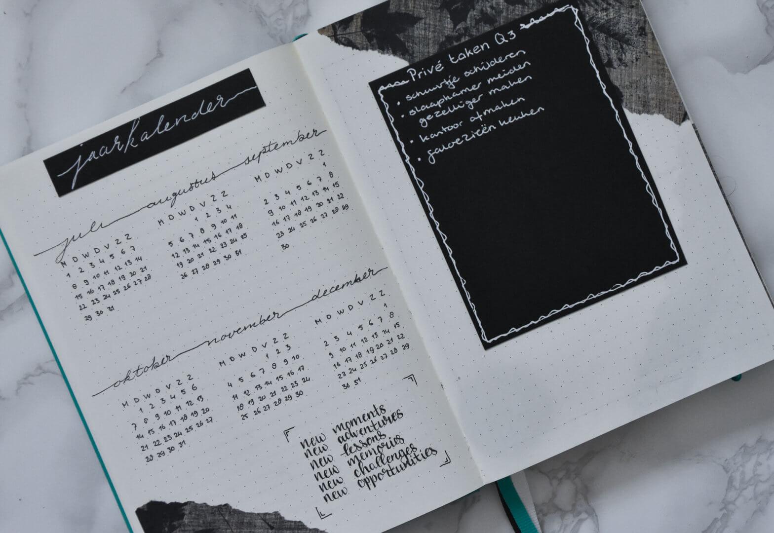 jaarkalender Q3