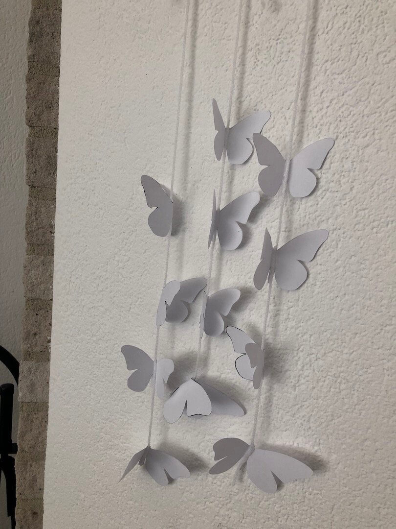 leuke vlinders geknutseld voor Marley haar eerste heilige communie
