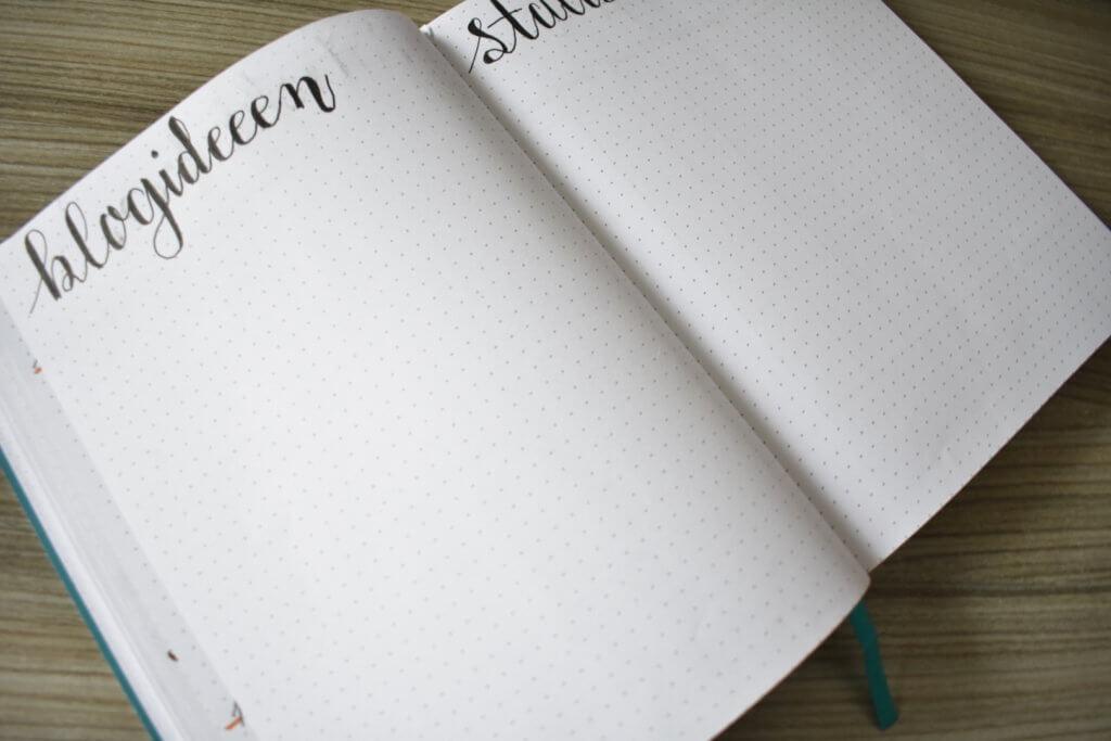 mijn bullet journal setup voor november blogideeen