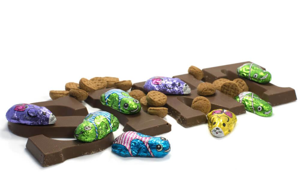 schoencadeautjes onder de 10 euro voor meiden chocoladeletter